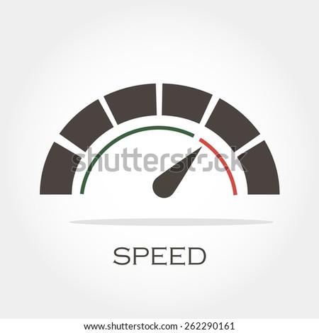 speedometer icon, minimum points, clean work, vector illustration - stock vector