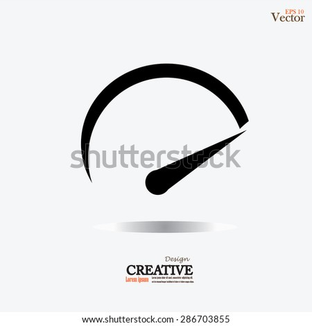 Speedometer icon.speed sign.vector illustration. - stock vector