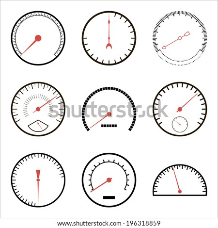 Speedometer icons - stock vector