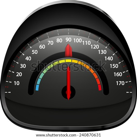 speedometer isolated vector illustration abstract eps 10 / speedometer