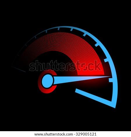 Speedometer of the car. Stock vector illustration. - stock vector