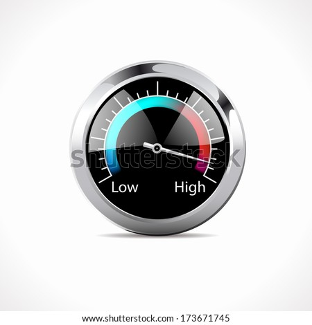 Speedometer - speed up! - stock vector