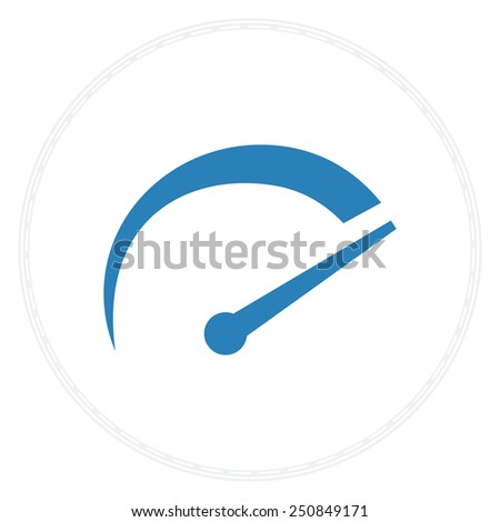 speedometer tachometer icon vector - stock vector