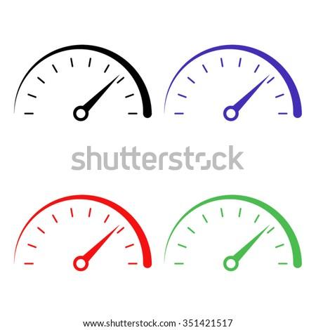 speedometer vector icon colored set stock vector 2018 351421517 rh shutterstock com car speedometer vector vector speedometer manual