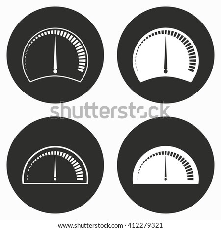 Speedometer    vector icon. Illustration isolated for graphic and web design.