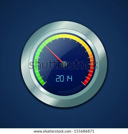 Speedometer. Vector illustration - stock vector
