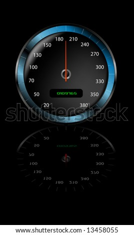 Speedometer with gradient mesh. - stock vector