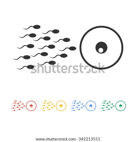 Sperm and egg cells thin line icon for web and mobile minimalistic flat design.  - stock vector