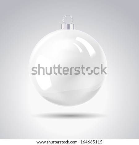 Sphere christmas ball. Vector illustration. - stock vector