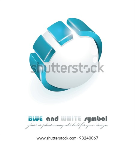 Sphere 3d design. Vector symbol. - stock vector