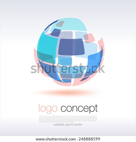 Sphere Logo Concept - stock vector
