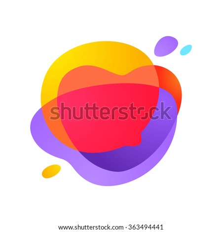Sphere speech bubble logo. Vector design template elements for your application or corporate identity. - stock vector