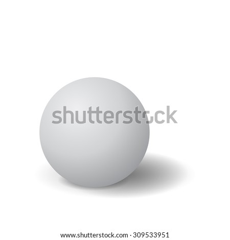 Sphere. Vector Illustration isolated on white background.