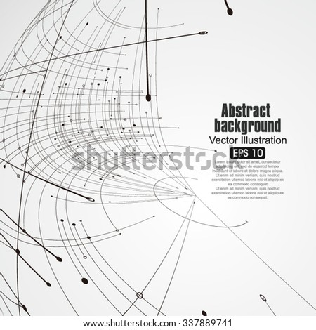 Sphere wireframe constructed with points and curves, technological sense abstract illustration. - stock vector