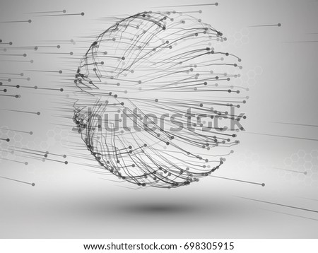 Drawing With Lines And Dots : Tornado swirl connected line dots wired stock photo vector
