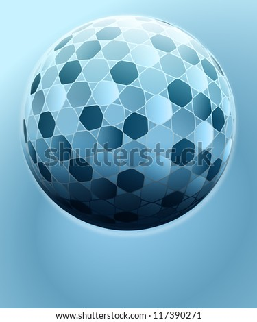 spherical geometry decoration card vector template - stock vector