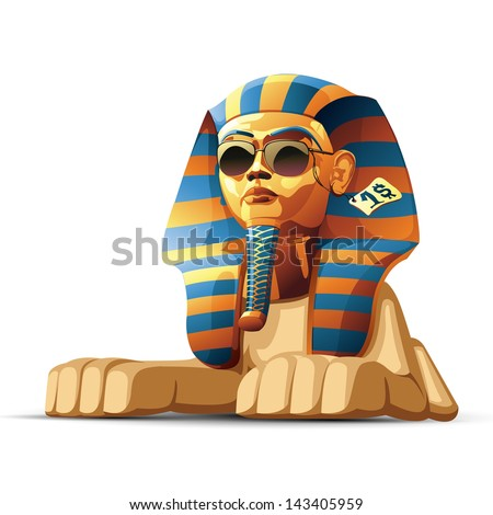 Sphinx head - stock vector