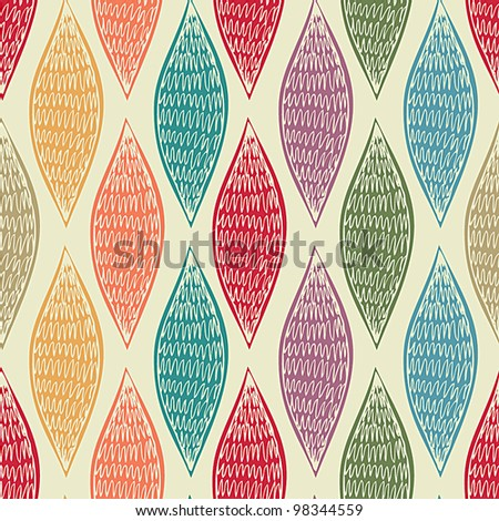 Spice Colored Seamless Abstract - stock vector