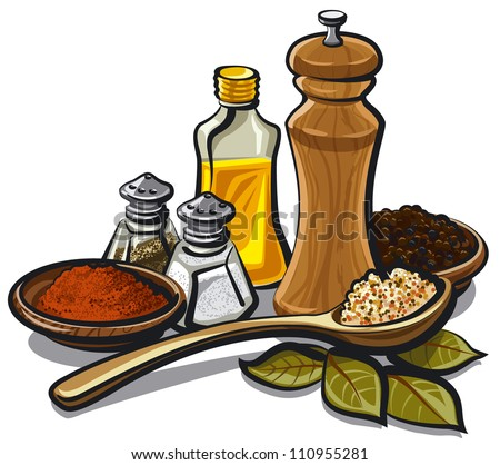 spices and flavorings - stock vector