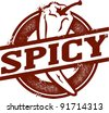 Spicy Chili Pepper Stamp - stock photo