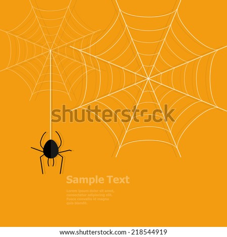 spider and webs vector illustration - stock vector