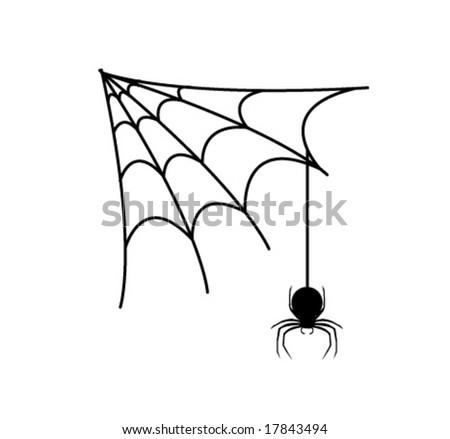 Web Spider Vector Spider's Web Ans Spider