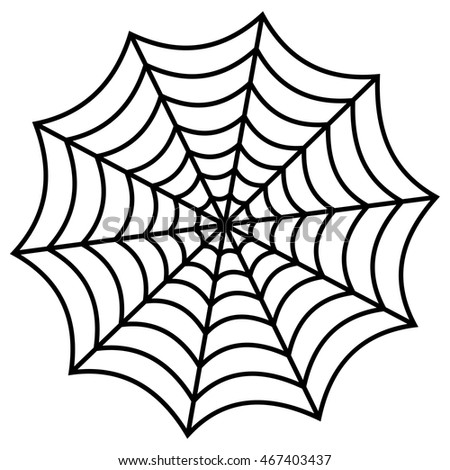 spider web on white background stock vector 467403437 shutterstock rh shutterstock com free vector spider web pattern vector spider web border