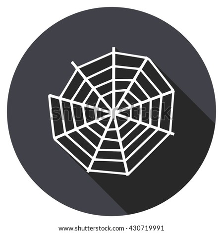 spider web vector icon, circle flat design internet button, web and mobile app illustration