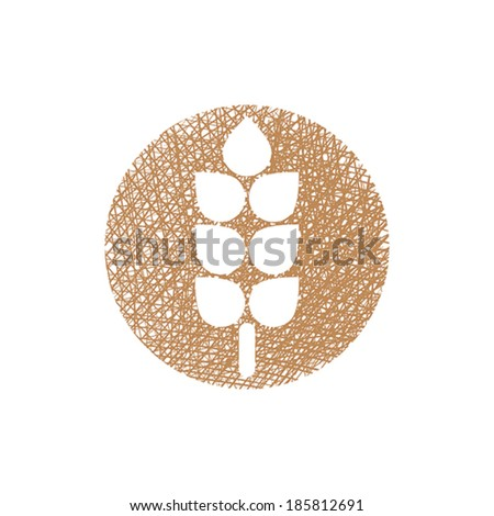 Spike icon vector with hand drawn lines texture. - stock vector