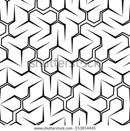 Spikes pattern (perfectly repeatable)  - stock vector