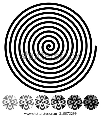 Spiral backgrounds. set of 4 colors. green, orange, red and blue. vector. - stock vector