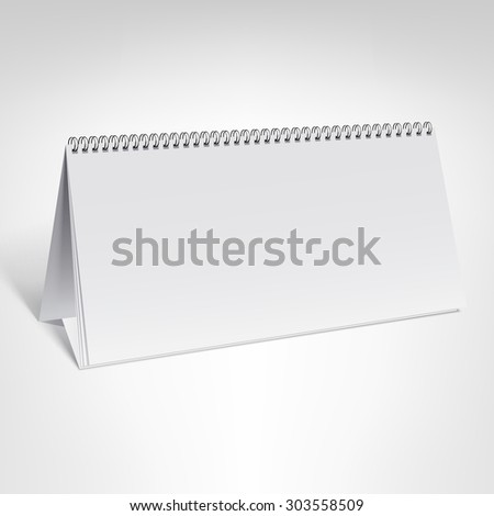 A3 Paper Vector Template White Blank Stock Vector 275180348