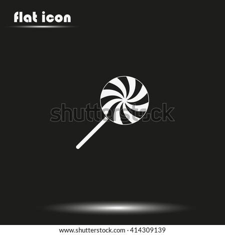 Spiral candy. Lollipop illustration. - stock vector