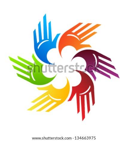 Spiral Hands - stock vector