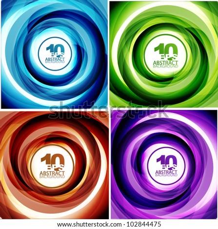Spiral line swirl background - stock vector