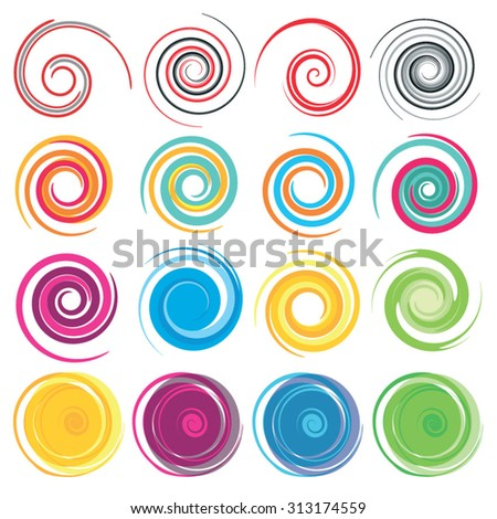 Spiral, rotation and swirling movement.  - stock vector
