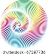 spiral shape rainbow colors - stock photo