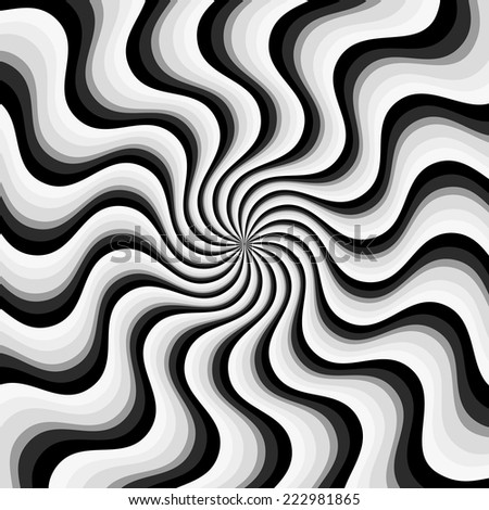 Spiral, swirl background - stock vector