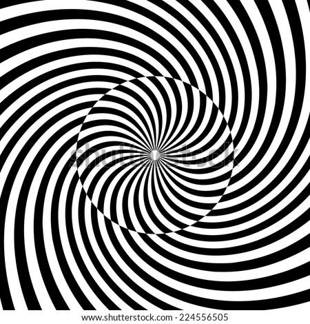 Spiral, swirl, twirl, vortex background. Shapes forming hypnotic spiral #2 - stock vector