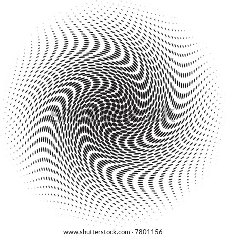 Spiral Vector Halftone for backgrounds and design - stock vector