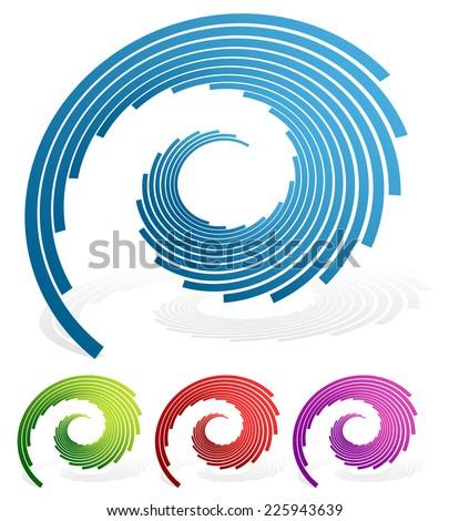 Spiralling lines vector - stock vector