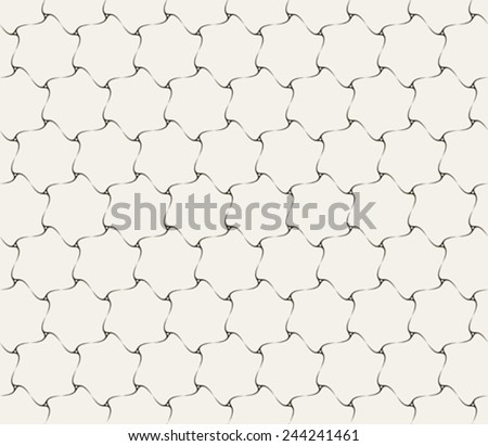 spirals seamless pattern, abstract texture, vector art illustration - stock vector