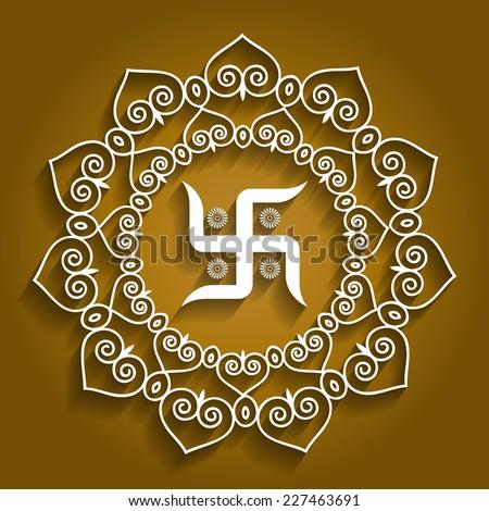Spiritual Hindu Symbol - Swastika Design - stock vector