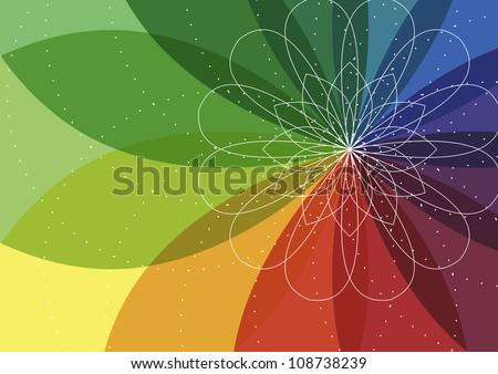 Spiro flower background - stock vector