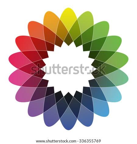 Spirograph - Color Spectrum (Set B) - stock vector