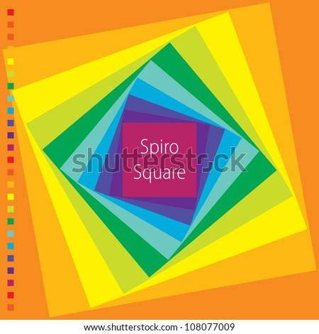 Spirograph illustration of square - stock vector