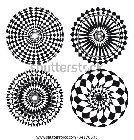 Spirograph ornament tattoo - stock vector