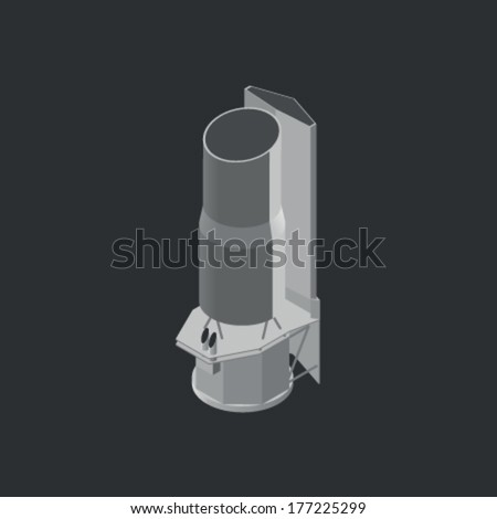 Spitzer Space Telescope - stock vector
