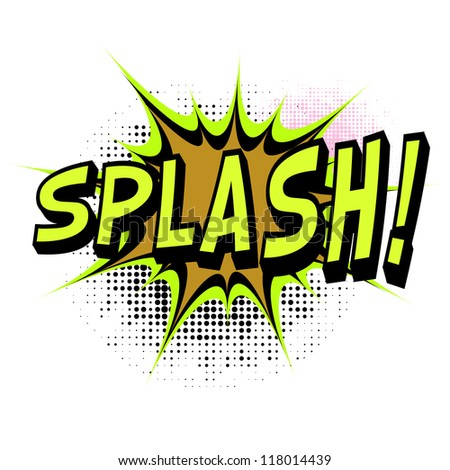 Splash. Comic book explosion. Easy to change color. - stock vector