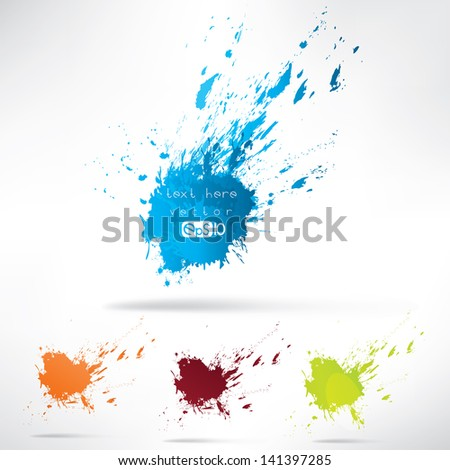 Splash on abstract background - stock vector